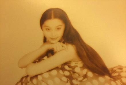 范冰冰13岁艺考照片曝光 美到发光