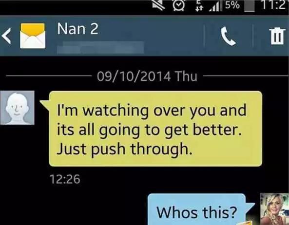 给奶奶墓中手机发短信 竟然回复了!