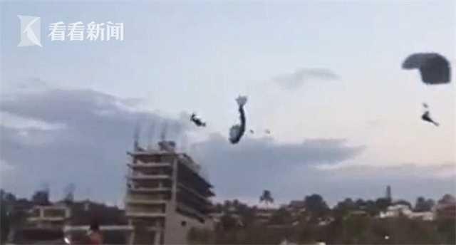 滑翔伞空中相撞   从15米高空坠地身亡