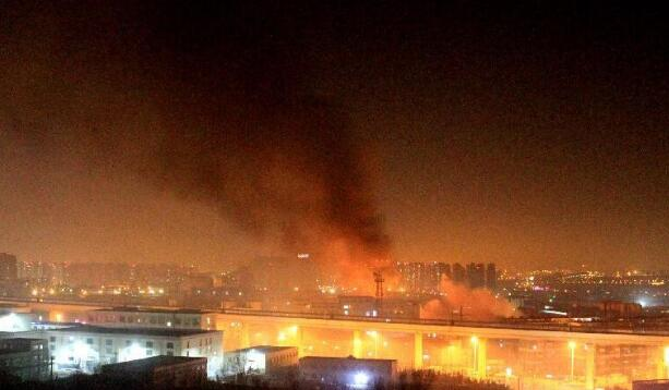 山东液化气站爆炸  5人受伤