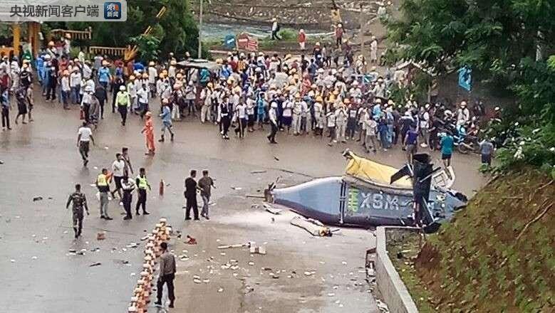 印尼直升机坠毁致1死 6名中国游客和1名驾驶员伤