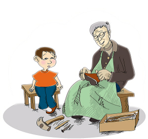 【心酸!】老师为留守儿补鞋 满满的都是爱!老师为留守儿补鞋
