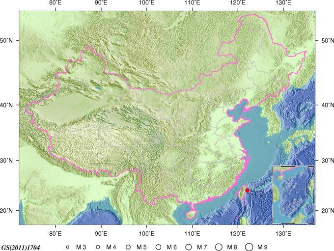台湾海域发生地震  连续发生多起