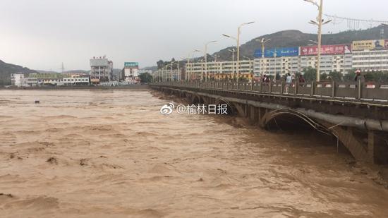 陕西子洲水库漫溢决口  泄洪过程中未发生安全问题!